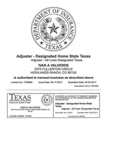 Texas Adjuster